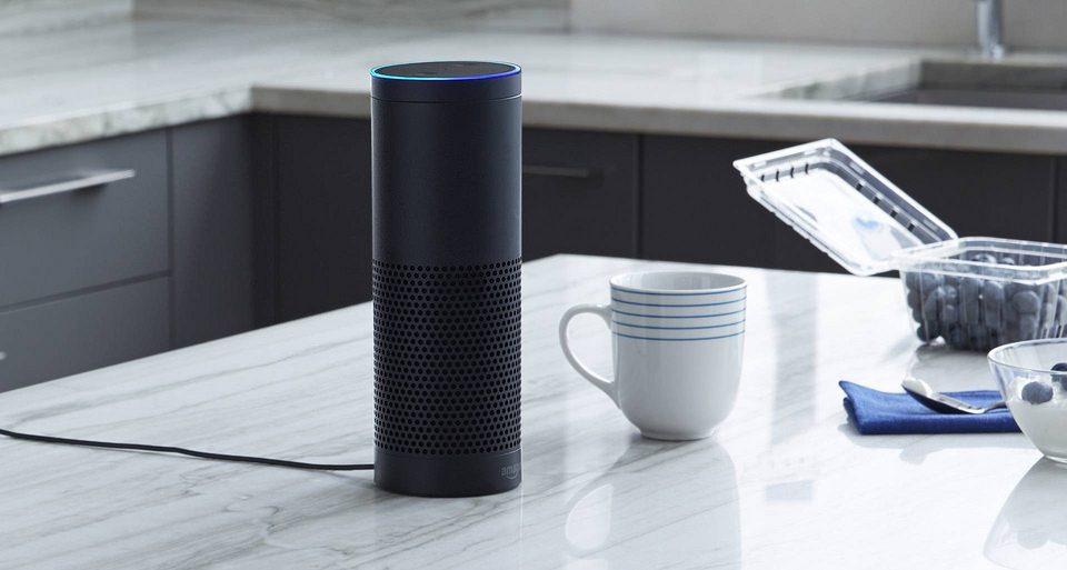 Alexa speaker in kitchen