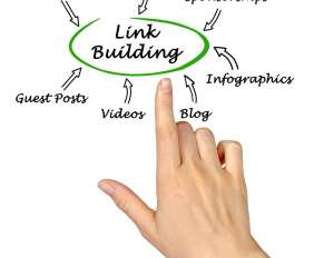hand pointing to ways of link building