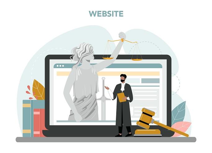 blind justice with online platform